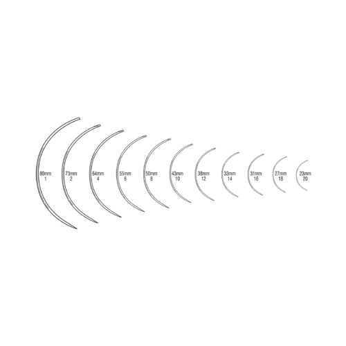 Curved (3/8 Circle), Round Bodied-Taper