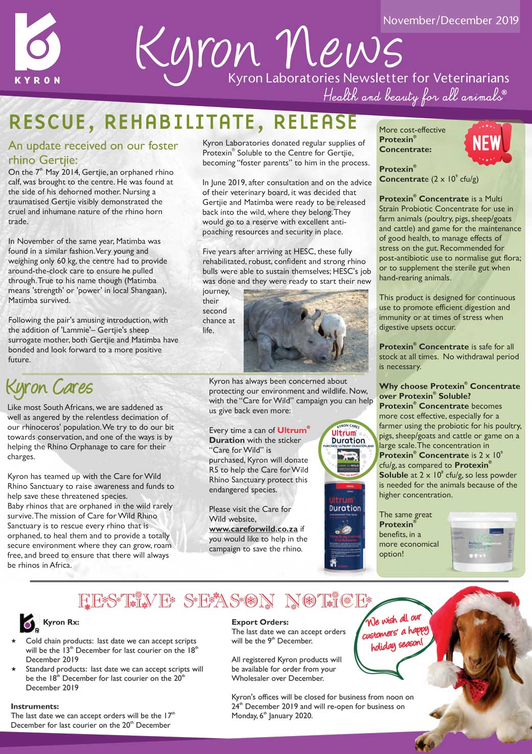 KyronNews No 84. November/December 2019