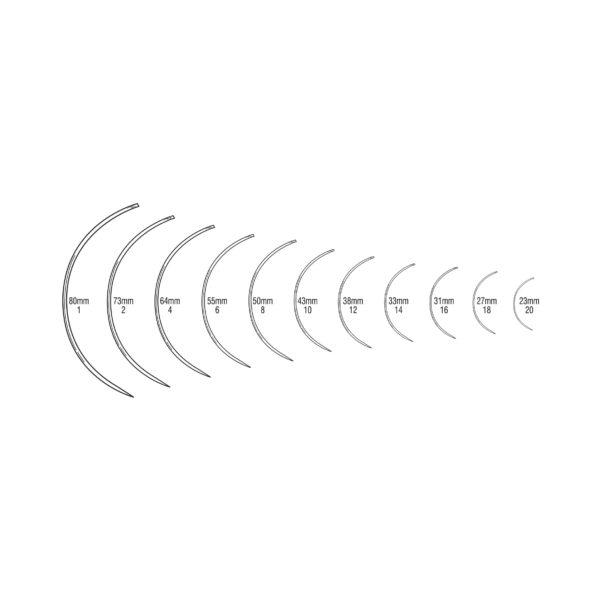 curvedCurved (3/8 Circle), Triangular Cutting